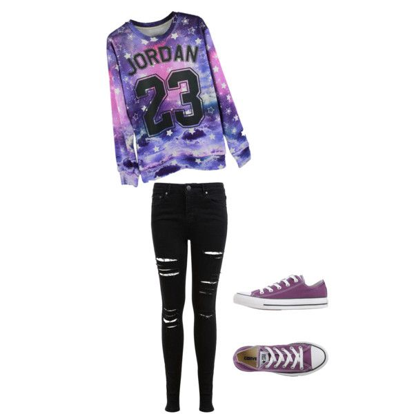 Jordan?? by jojo-disney on Polyvore featuring polyvore, fashion, style, Miss Selfridge and Converse