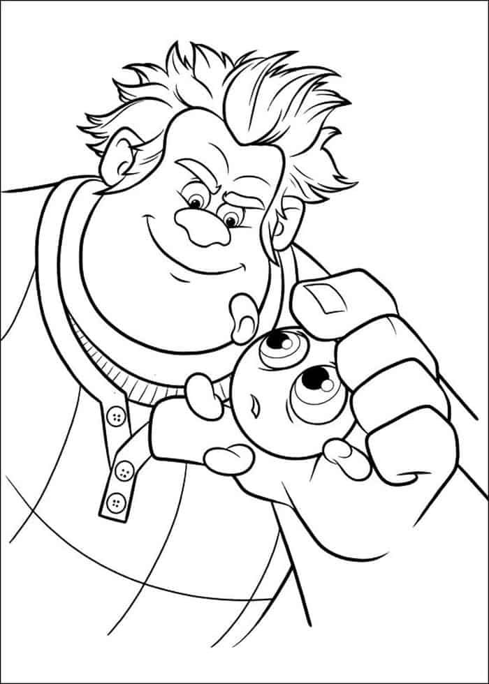 candlehead wreck it ralph face coloring pages from wreck