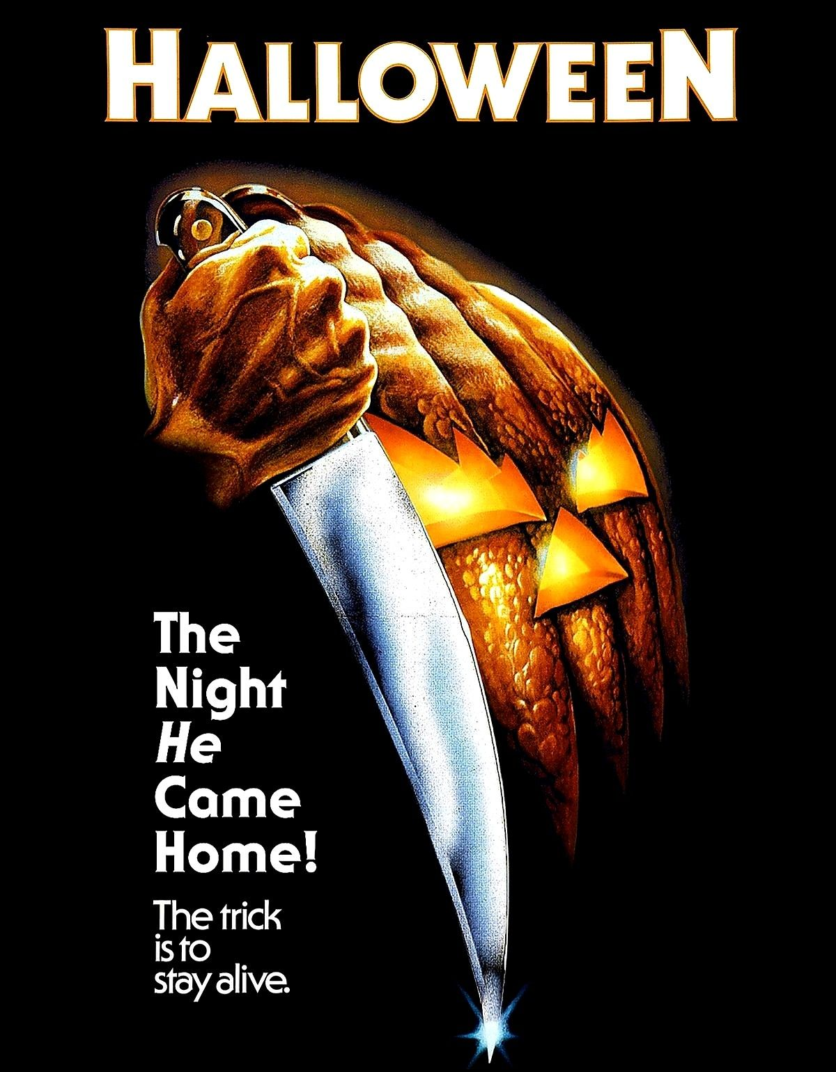 Halloween , 1978 movie poster and book cover ,