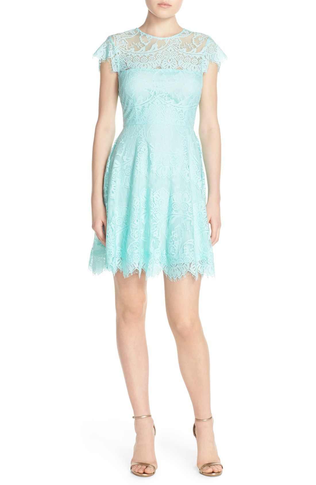 BB Dakota \'Rhianna\' Illusion Yoke Lace Fit & Flare Dress (Nordstrom ...