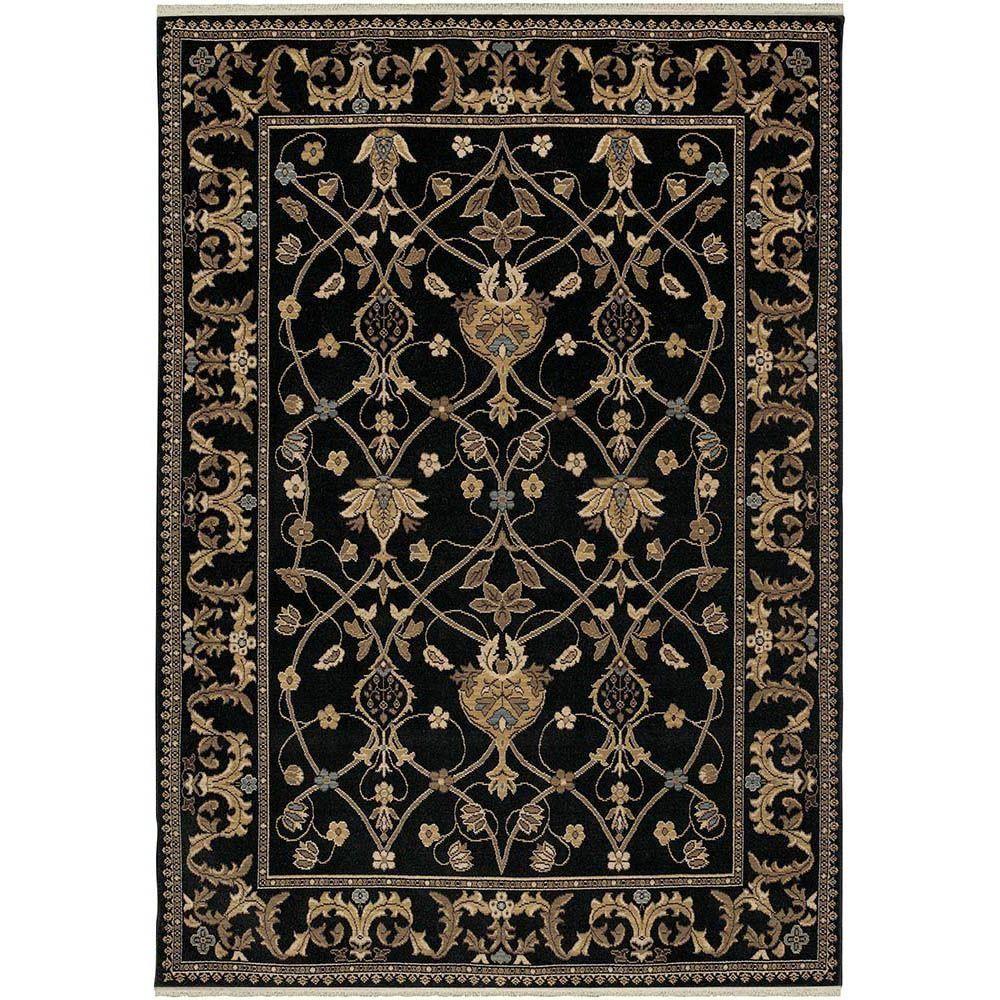 William Morris Black 8 Ft 6 In X 11 Ft 6 In Area Rug Rugs On Carpet William Morris Art