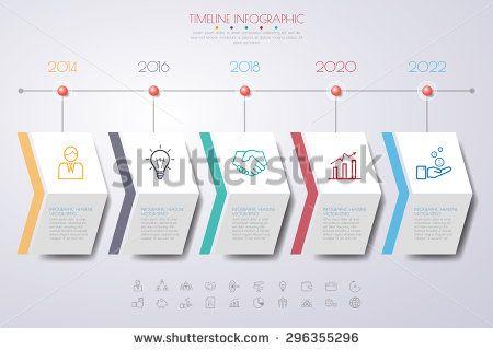 Color Step Design Clean Number Timeline Templategraphic Or - Graphic timeline template