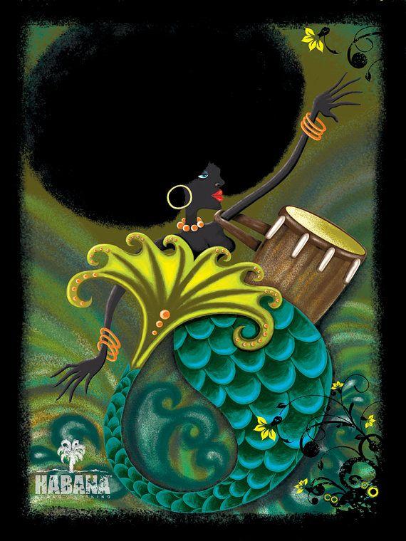 Quem disse que no reino das águas não há sereia black power?! Quem disse?!!!