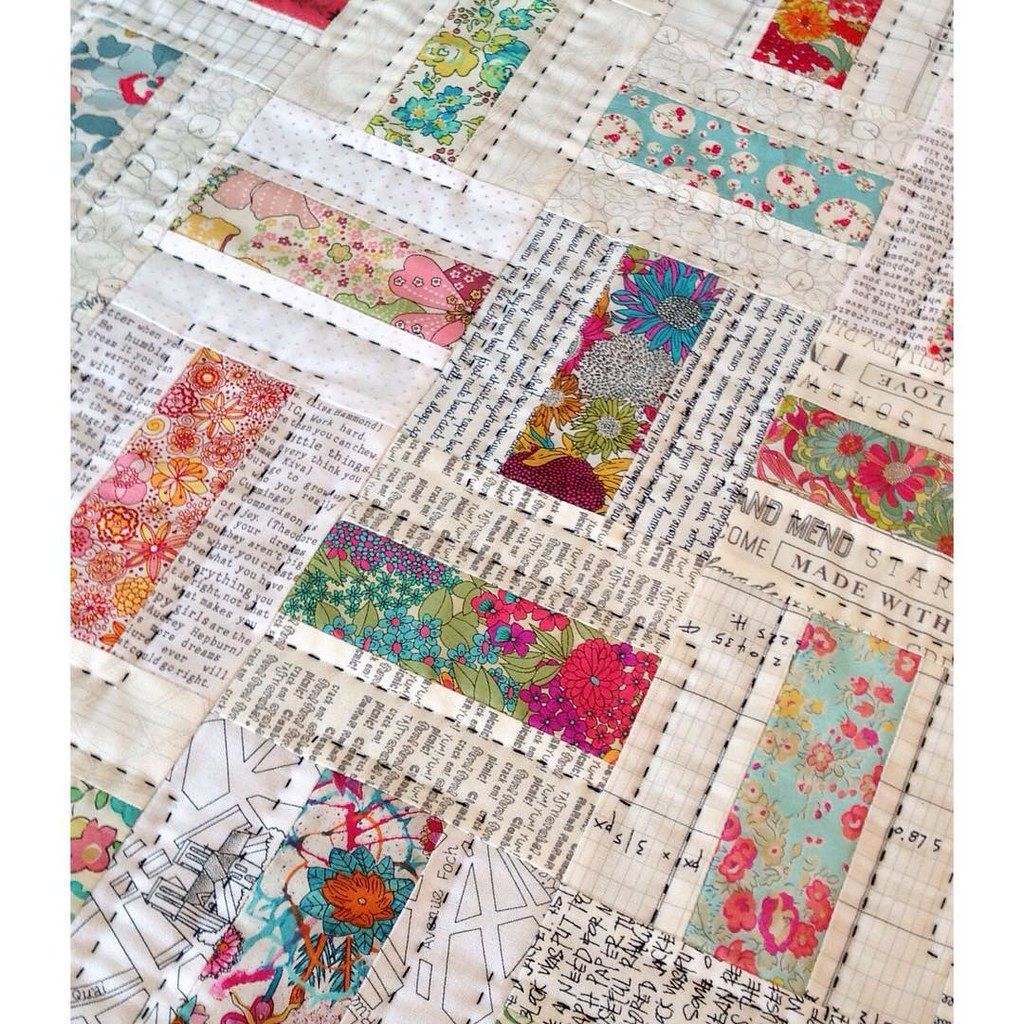 Domino quilt in Liberty fabric ❤️ #jellyrollquilts