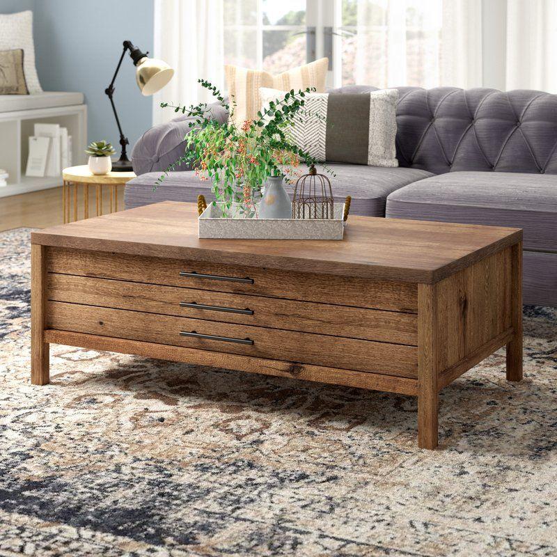 rustic farmhouse coffee table - odile coffee table