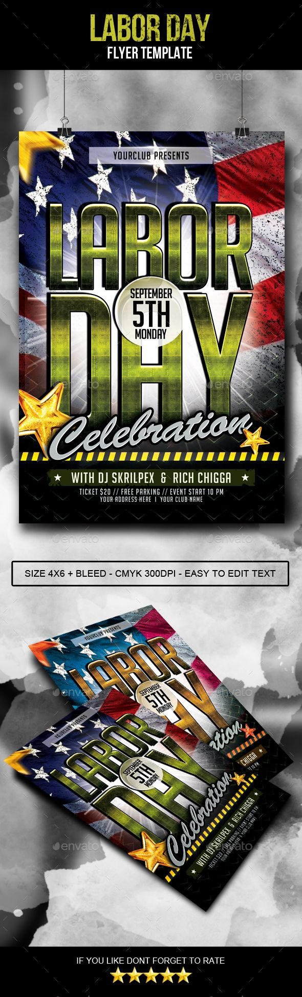 Labor Day Flyer | Labour, Flyer template and Template
