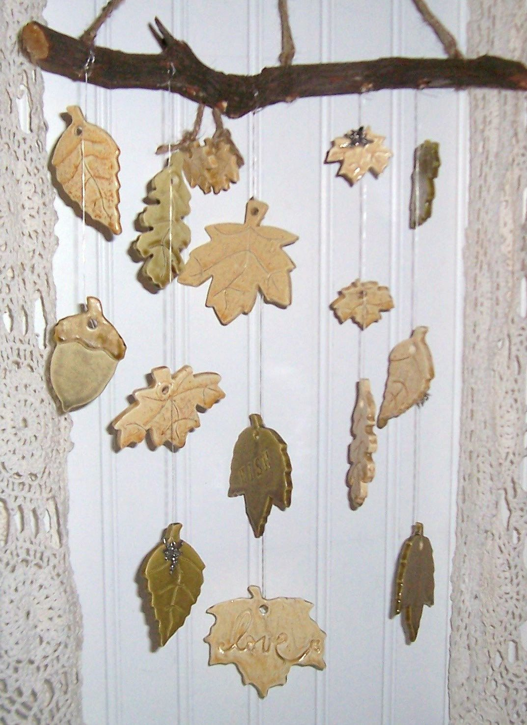 Clay wind chimes pretty little things that jingle and for Wind chime ideas
