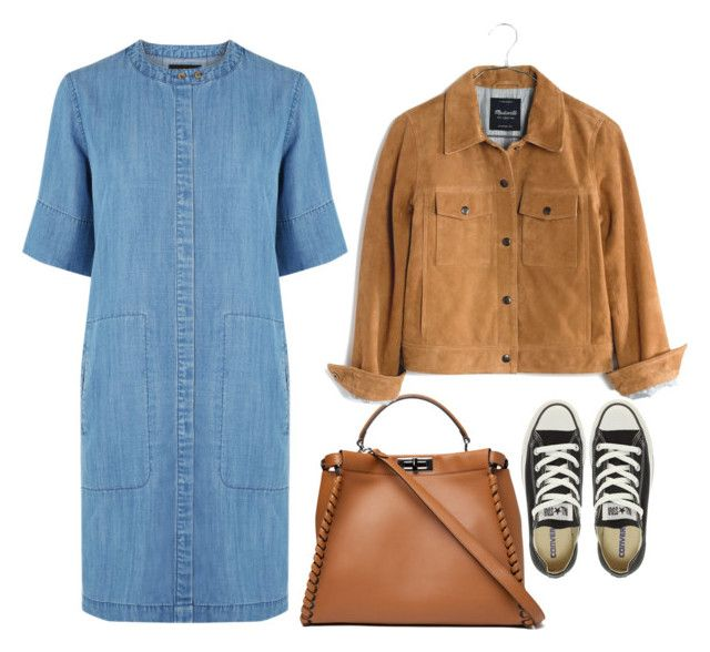 """""""vintage fair"""" by phoebe-zeng on Polyvore featuring Warehouse, Fendi, Converse, Madewell and vintage"""