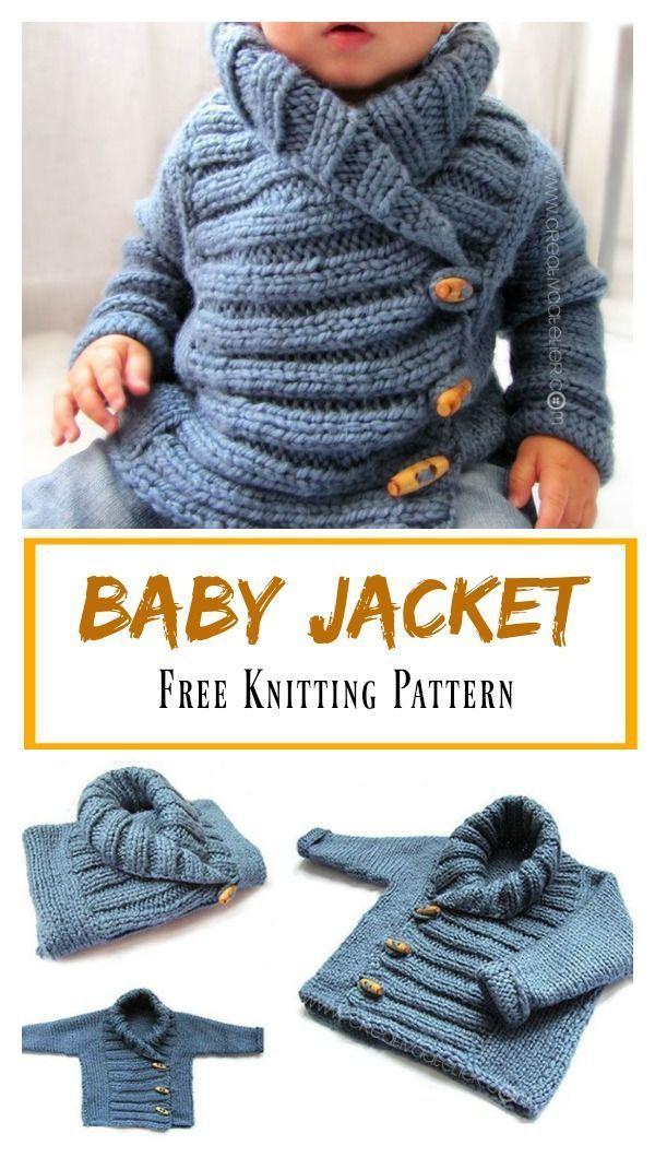 Photo of Babyjacke Free Knitting Pattern