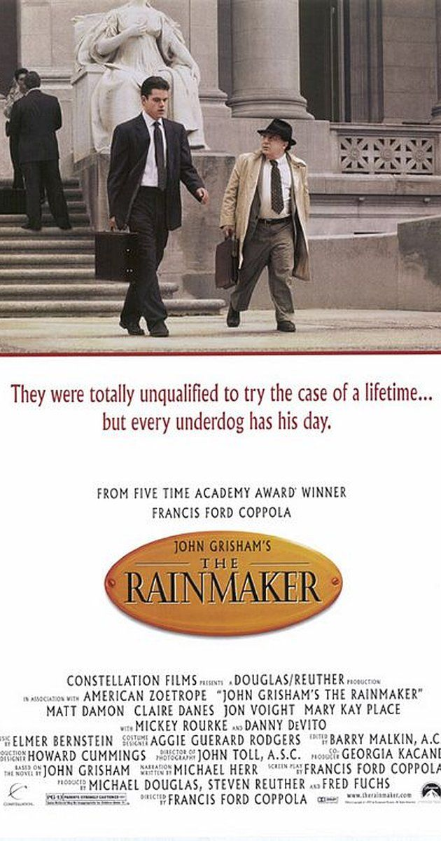 Directed By Francis Ford Coppola With Matt Damon Danny Devito