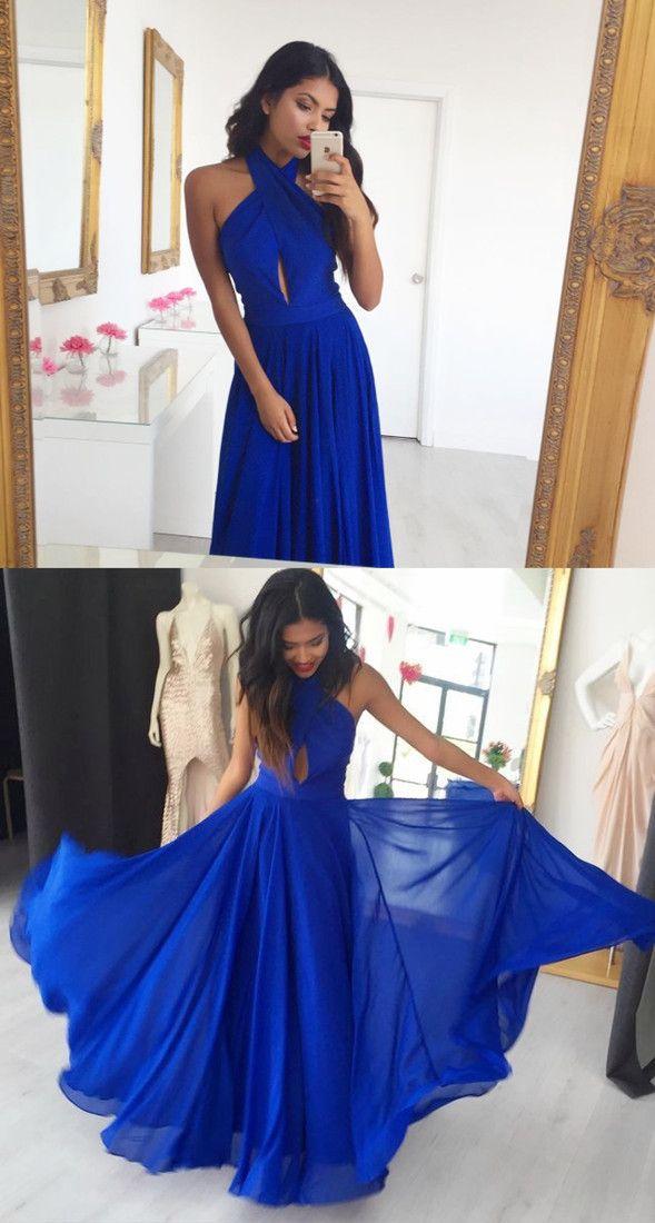 Royal Blue Lace Prom Dresses 2018