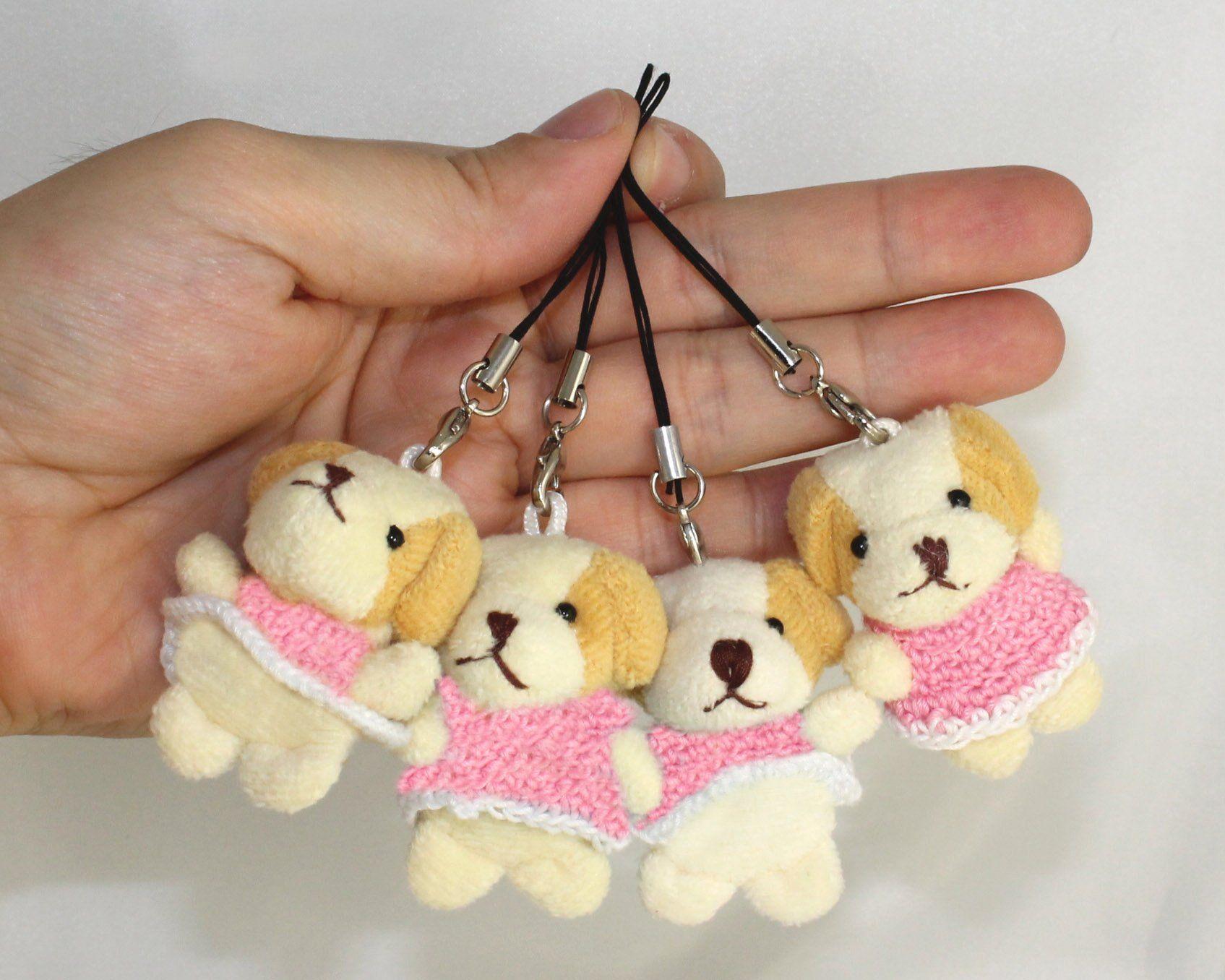Lucore Mini 2 Puppy Dog Plush Stuffed Animal Toy Charms 4 Pcs Phone And Purse Decorations W Dust Plugs Cl Purse Decorations Pet Toys Plush Stuffed Animals [ 1356 x 1695 Pixel ]