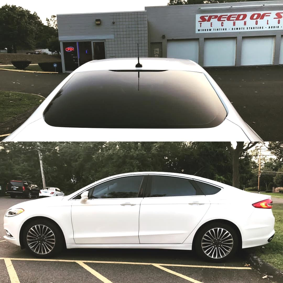 2017 Ford Fusion With Window Film Installed On Side And Rear Glass