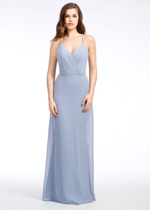 549d3133237 This is the color of my bridesmaids  dresses! They are wearing all  different styles in the same material color (cornflower chiffon)