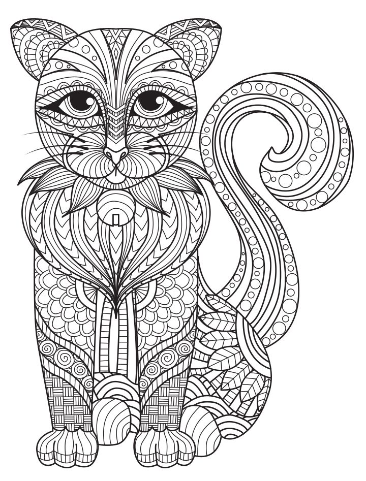 Unicorn Cat Mask Coloring Pages