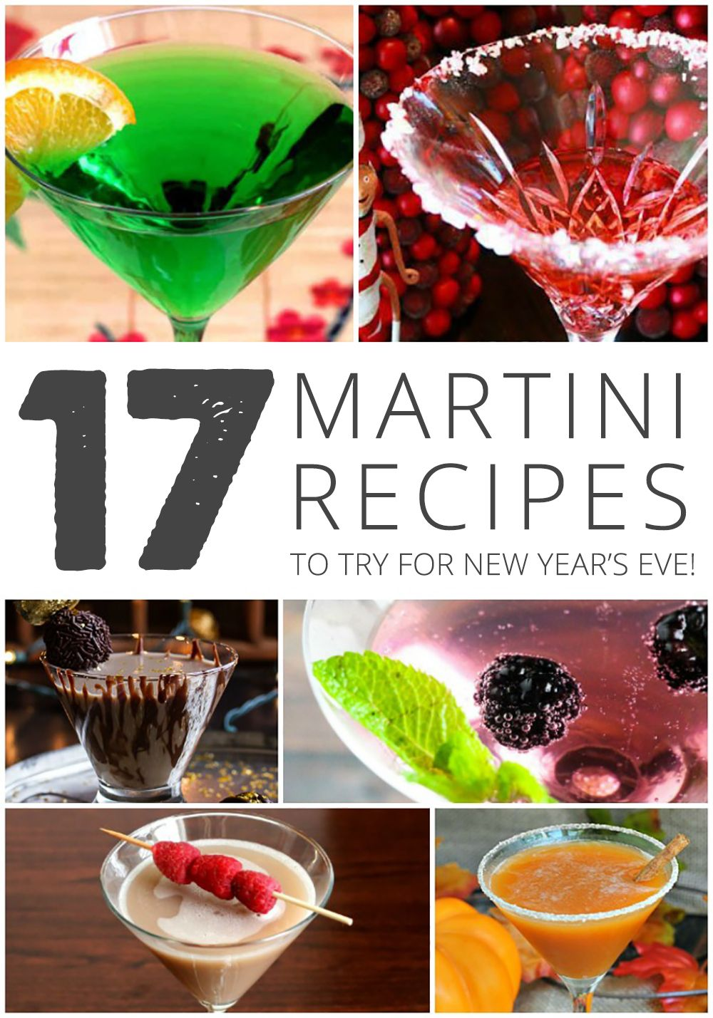 17 Yummy Martini Recipes to Try for New Year's Eve