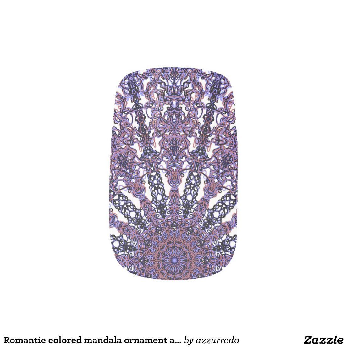 Romantic colored mandala ornament arabesque Minx® nail art | Lace ...