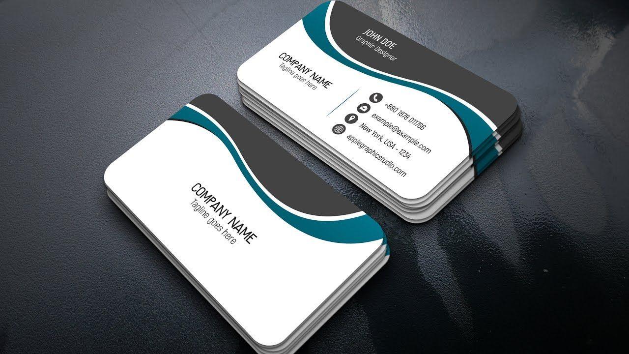 Design a Professional Business Card - Adobe Photoshop CC 2017 ...
