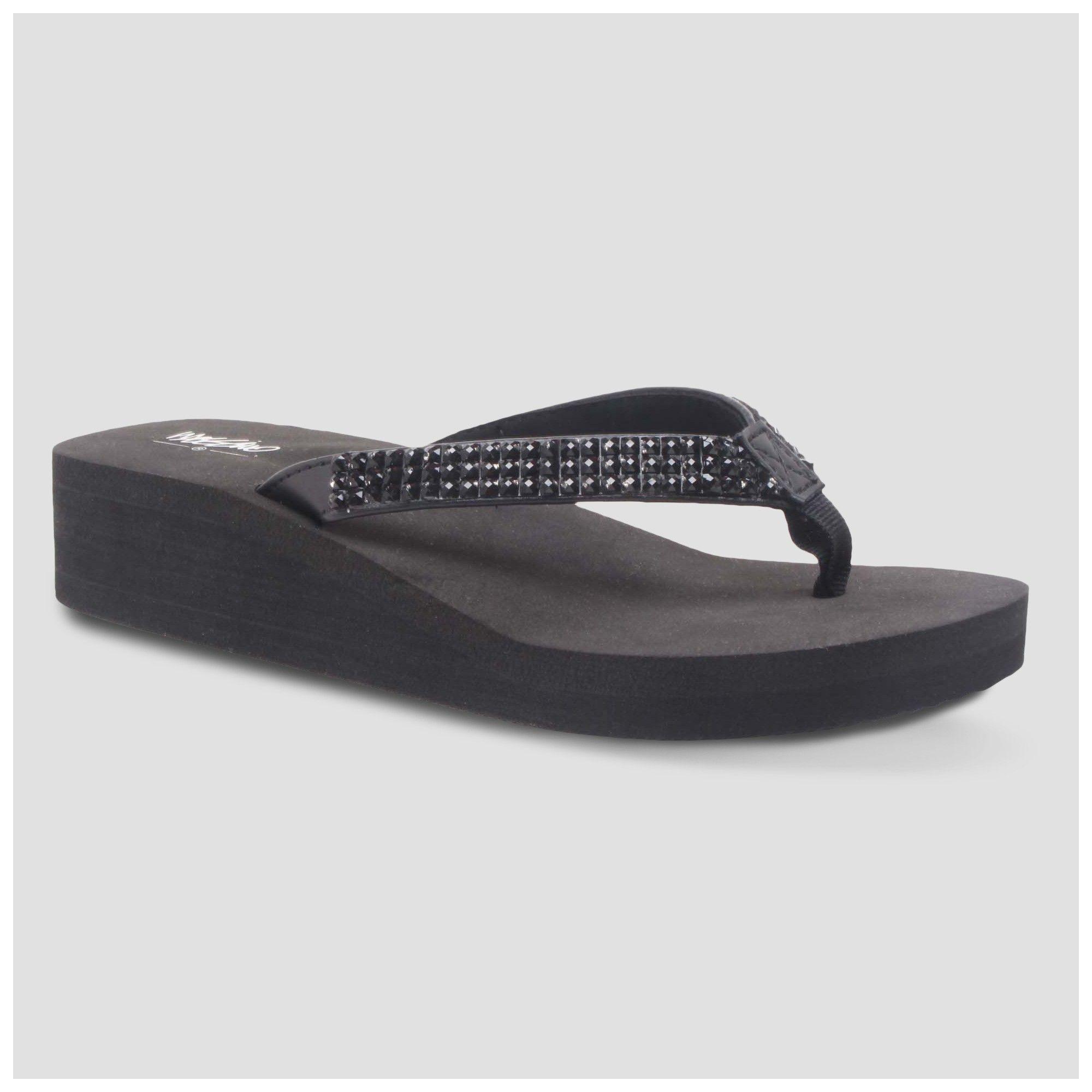 2a2bf6cd3995 Women s Lannette Flip Flop Sandals - Mossimo Black 12