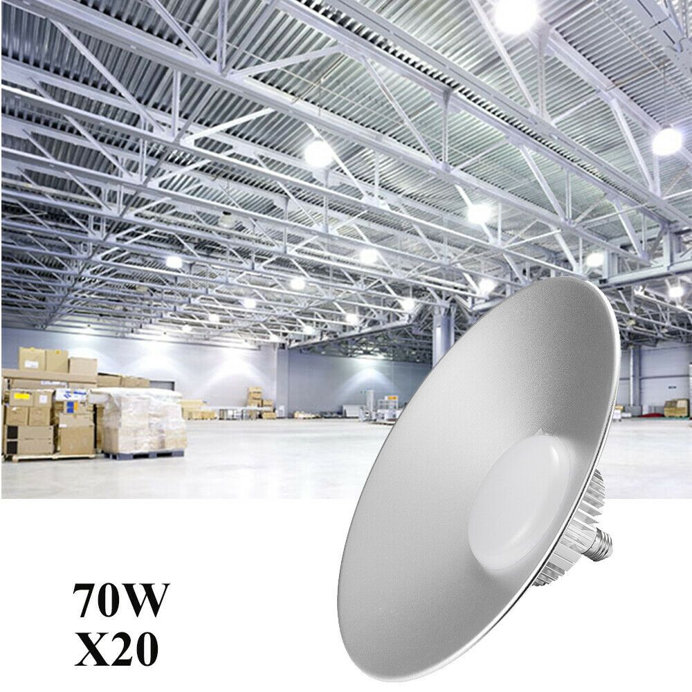 4X 50W UFO LED High Bay Lights Slim Commercial Factory Gym Workshop White 6000K