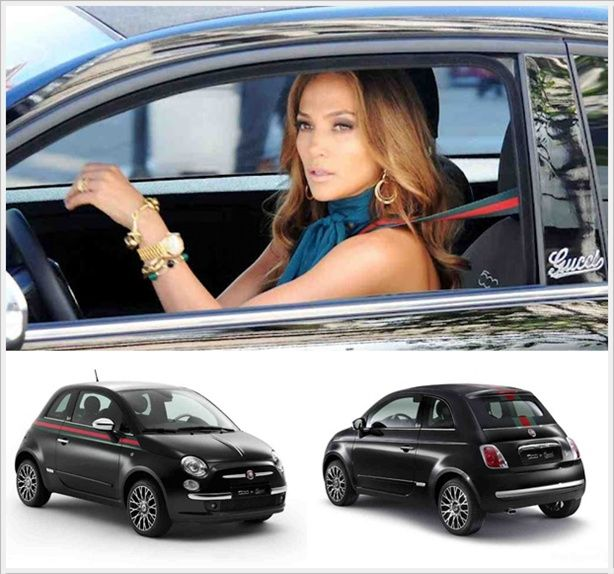 Jennifer Lopez For Fiat 500c Gucci With Images Fiat 500c New