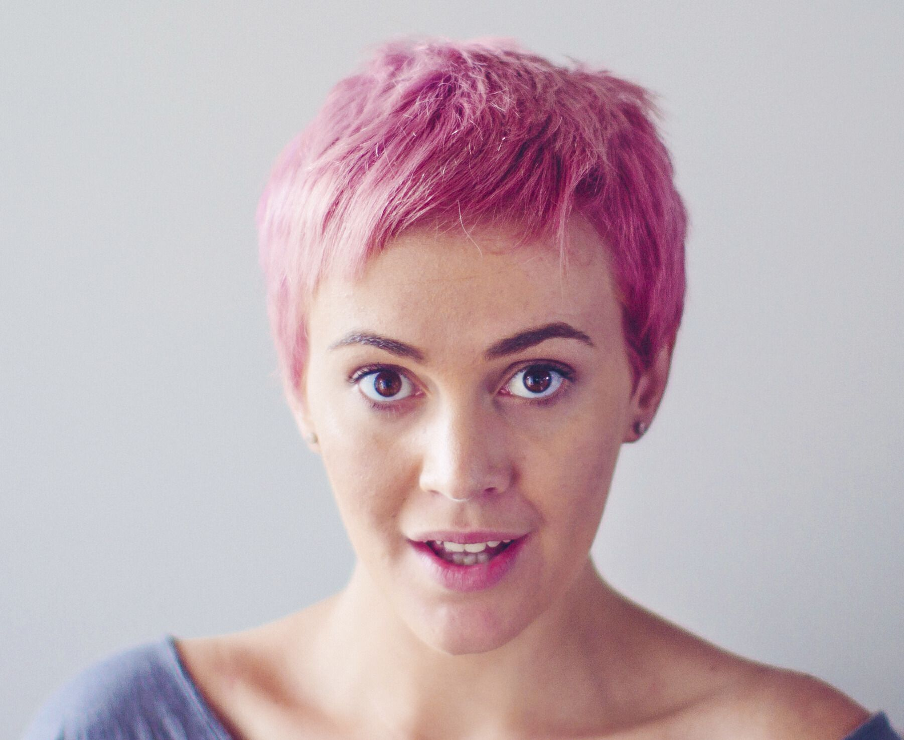 Pink And Purple Hair Styles: Short Pastel Pink Hair