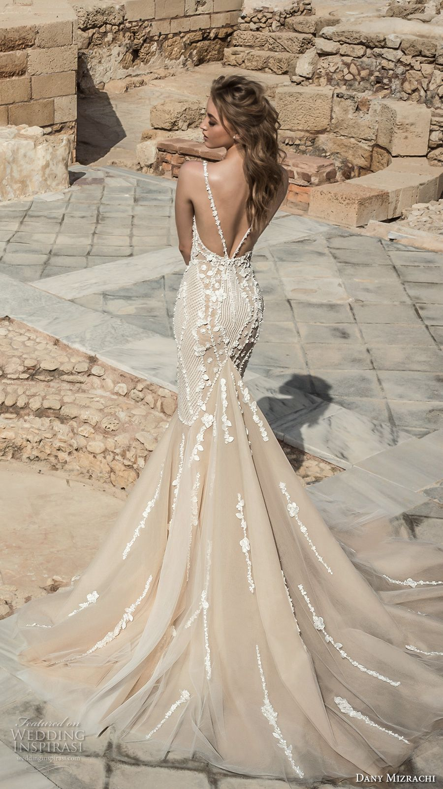 Mermaid Wedding Dresses with Sweetheart Neckline and Open Back