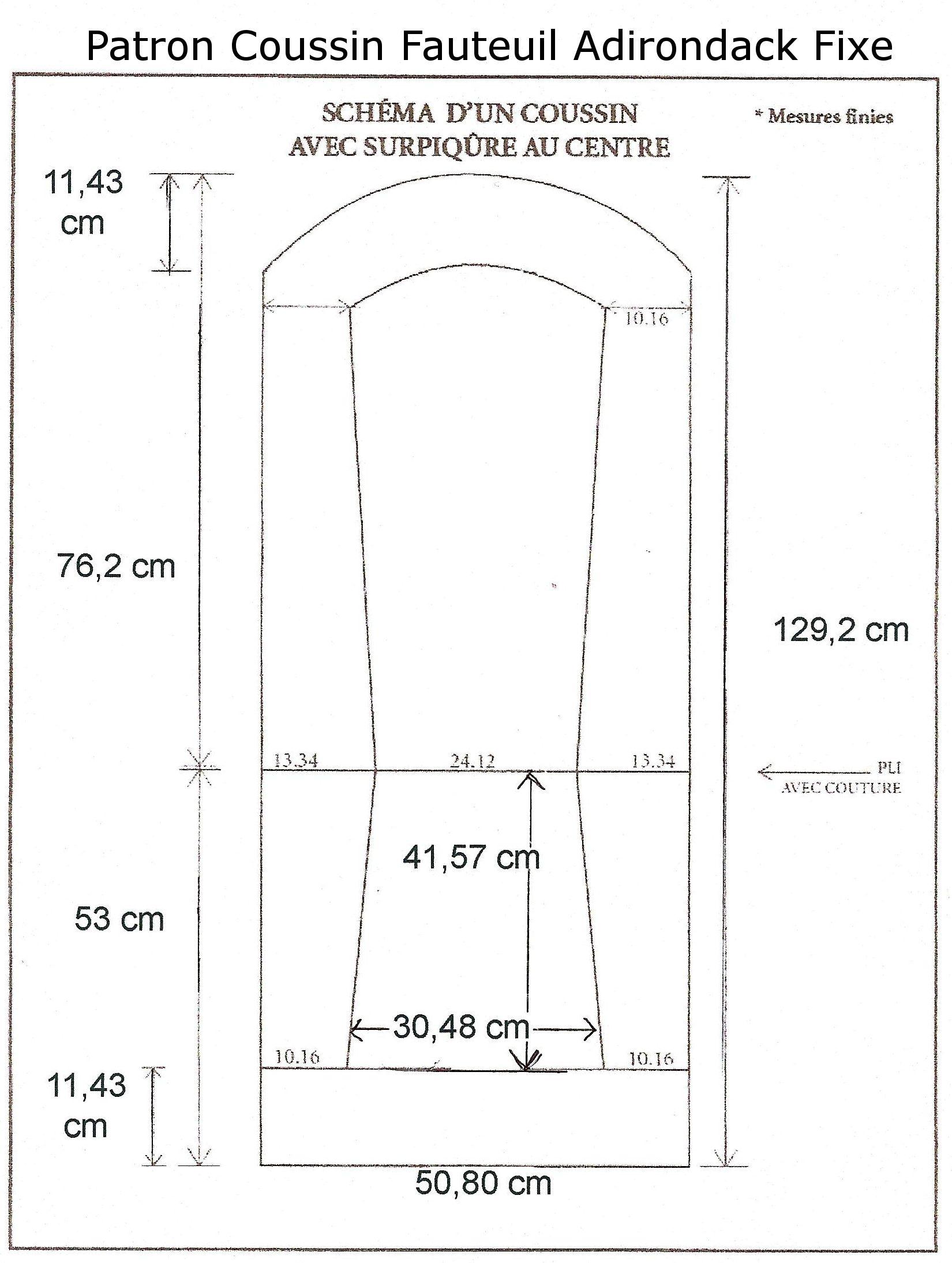 Coussin Pour Fauteuil Adirondack patron coussin fauteuil adirondack fixe (1650×2189