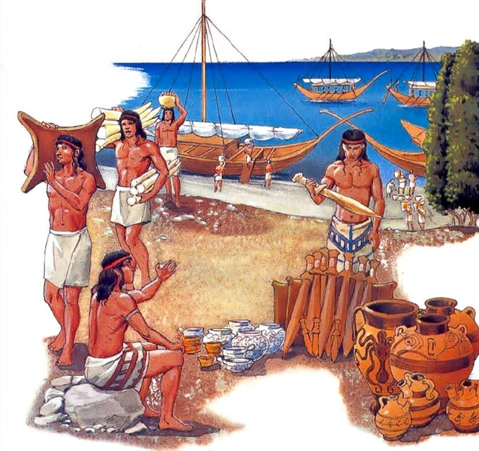 Minoans were traders, and their cultural contacts reached far beyond the island of Crete — to Egypt's Old Kingdom, to copper-bearing Cyprus, Canaan, and the Levantine coasts beyond, and to Anatolia. In late 2009, Minoan-style frescoes and other Minoan-style artifacts were discovered during excavations of the Canaanite palace at Tel Kabri, Israel, leading archaeologists to conclude that the Minoan influence was the strongest foreign influence on that Caananite city state.