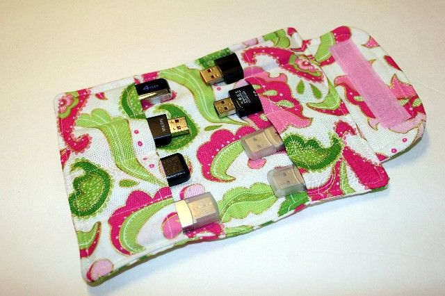 Flash Drive Storage Pouch Pattern Awesome Match The