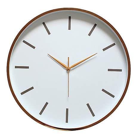Copper Metallic Wall Clock Dunelm