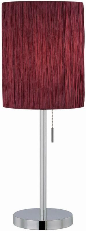 Table Lamp Chrome Merlot Rayon, Annapolis Lamp And Shade Center