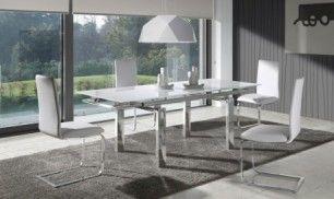 Mesa de comedor extensible de cristal Selena | Deco | Mesas de ...