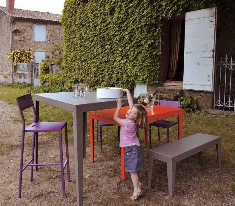Mesas de Diseño exterior ZONDA. Decoracion Beltran, tu tienda online en mesas de acero y aluminio para terraza y jardin. www.decoracionexterior.com