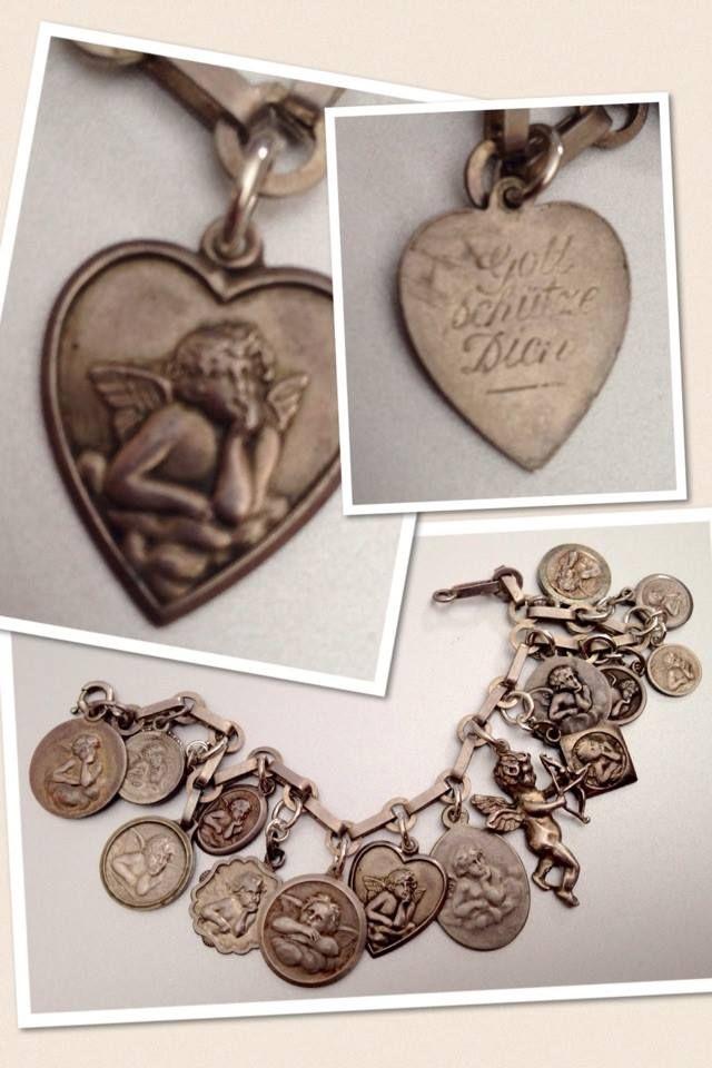 bracelet charm Vintage cherub