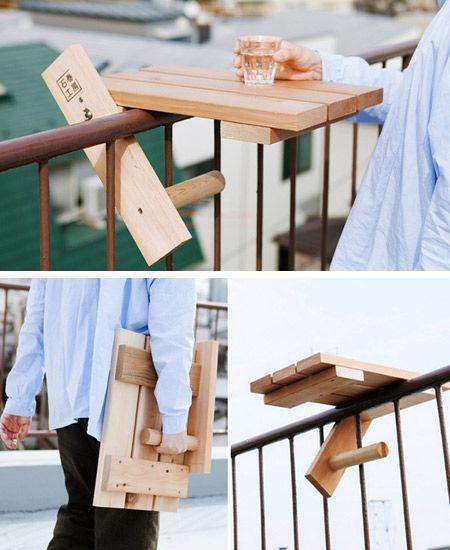 Klapptisch balkon blech  12 Most Creative Accessories for your Balcony in 2019 | kleine Möbel ...