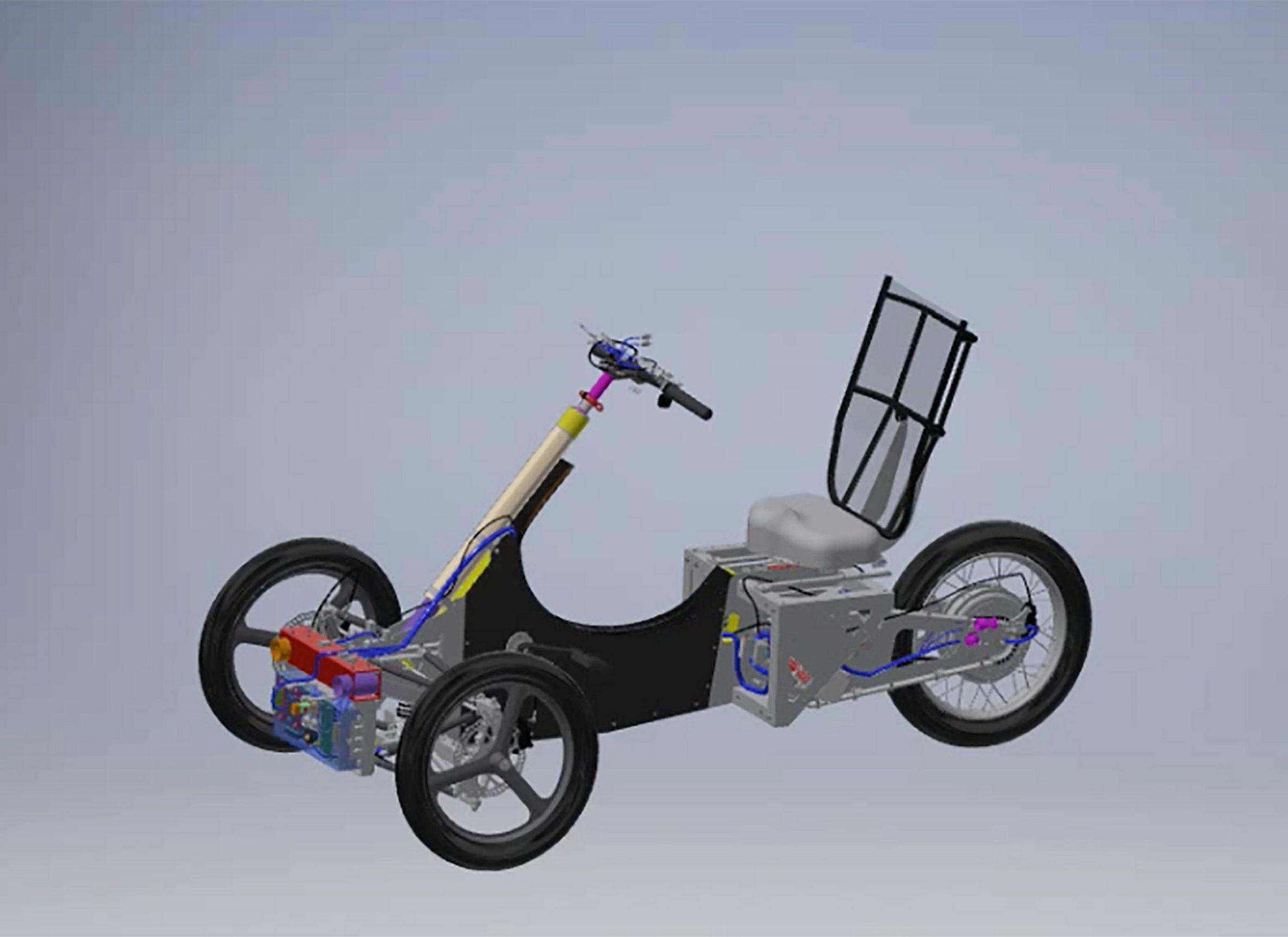 Digital prototype of Velometro Mobility's Veemo Vehicles