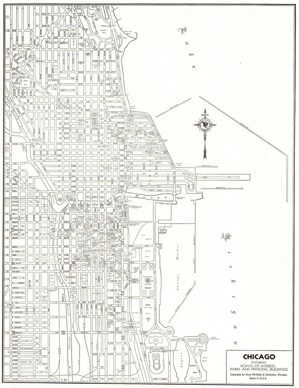 1942 Vintage CHICAGO Illinois City MAP Antique Map of ... on map illinois counties, map illinois airports, map richmond va, map illinois roads, map of northern illinois, map in europe, map illinois highways, map anthem az, map illinois zip codes, map illinois country, map lahore city, map illinois parks, map illinois suburbs, map illinois rivers, map illinois railroads, map illinois state, map baltimore md, map detroit mi, map cincinnati ohio, map wichita ks,