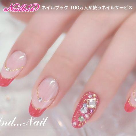 ネイル(No.163138) ピンク