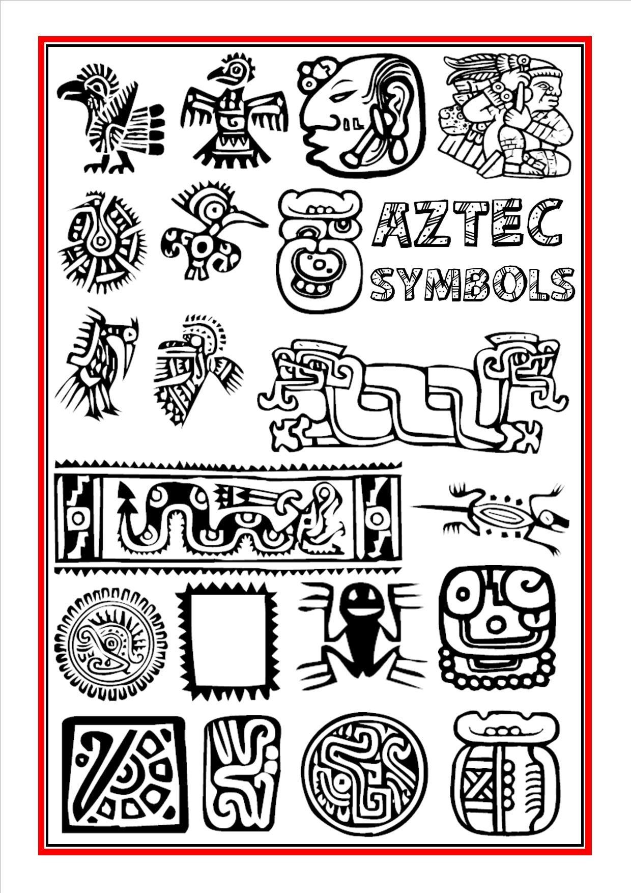 Aztec Symbols 2 Ancient Art In 2019 Aztec Art Aztec