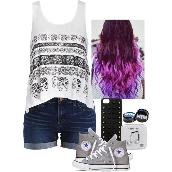Try by christina-marie-miller on Polyvore featuring Ally Fashion, VILA, Converse and Happy Plugs