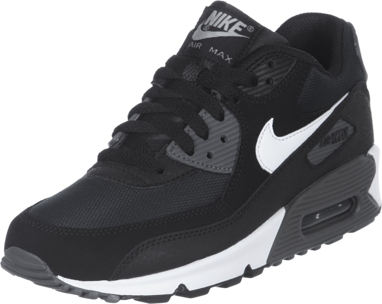 nike air max 90 youth gs schoenen zwart