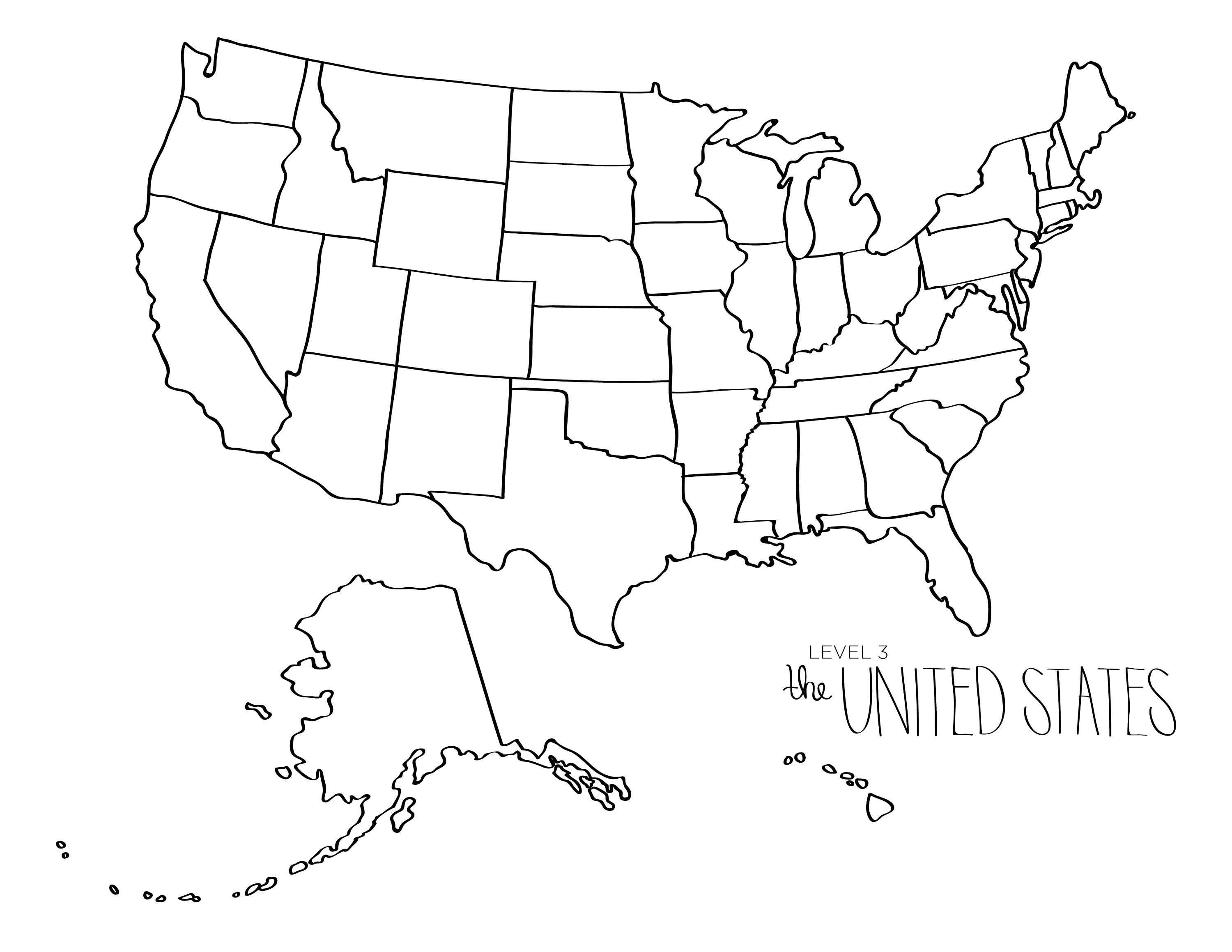 Learn To Draw The UNITED STATES Blob Map Style United States - Dry Erase Blank Us Map