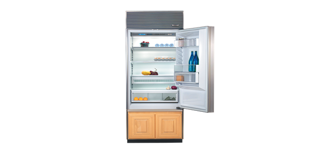 Sub Zero 650 Over Under Refrigerator Freezer Panel Ready