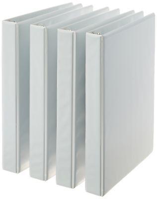 Amazonbasics 3 Ring Binder 1 Inch 4 Pack White White 1 Inch Binder Sizes Binder 3 Ring Binders