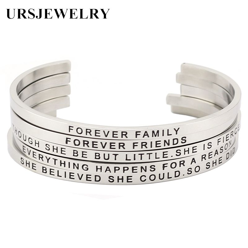 d06a829e374 Find More Bangles Information about Hot Sale Silver Color Women Mantra Bracelet  Bangle Stainless Steel Open