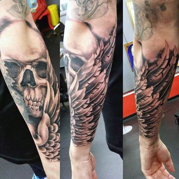 c97221e1d Top 100 Best Wing Tattoos For Men - Designs That Elevate | tats ...