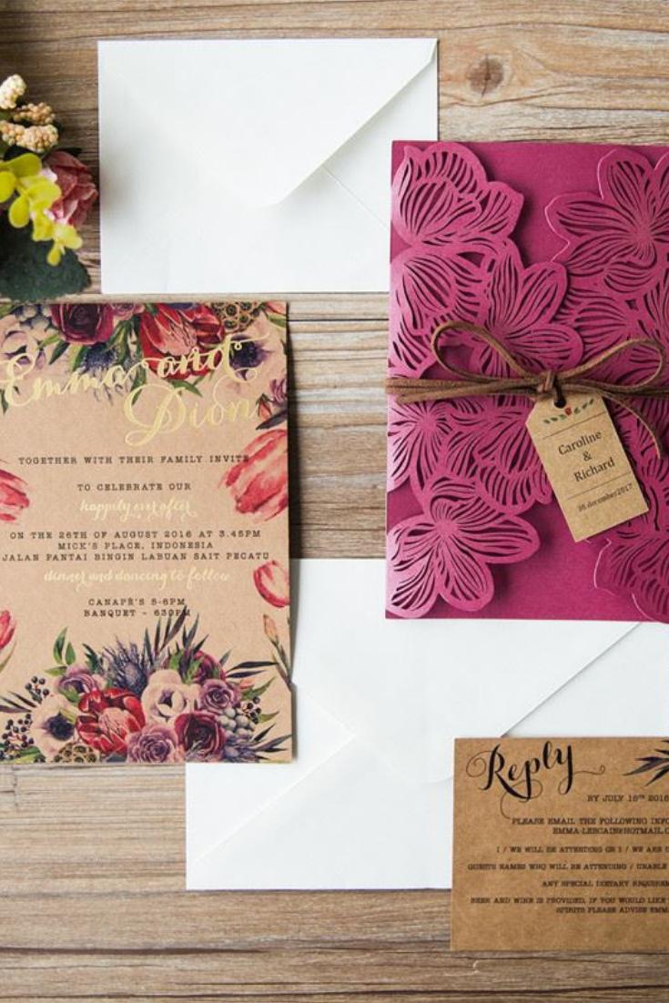Invitaciones Para Un Matrimonio Vintage Qué Diseño Les