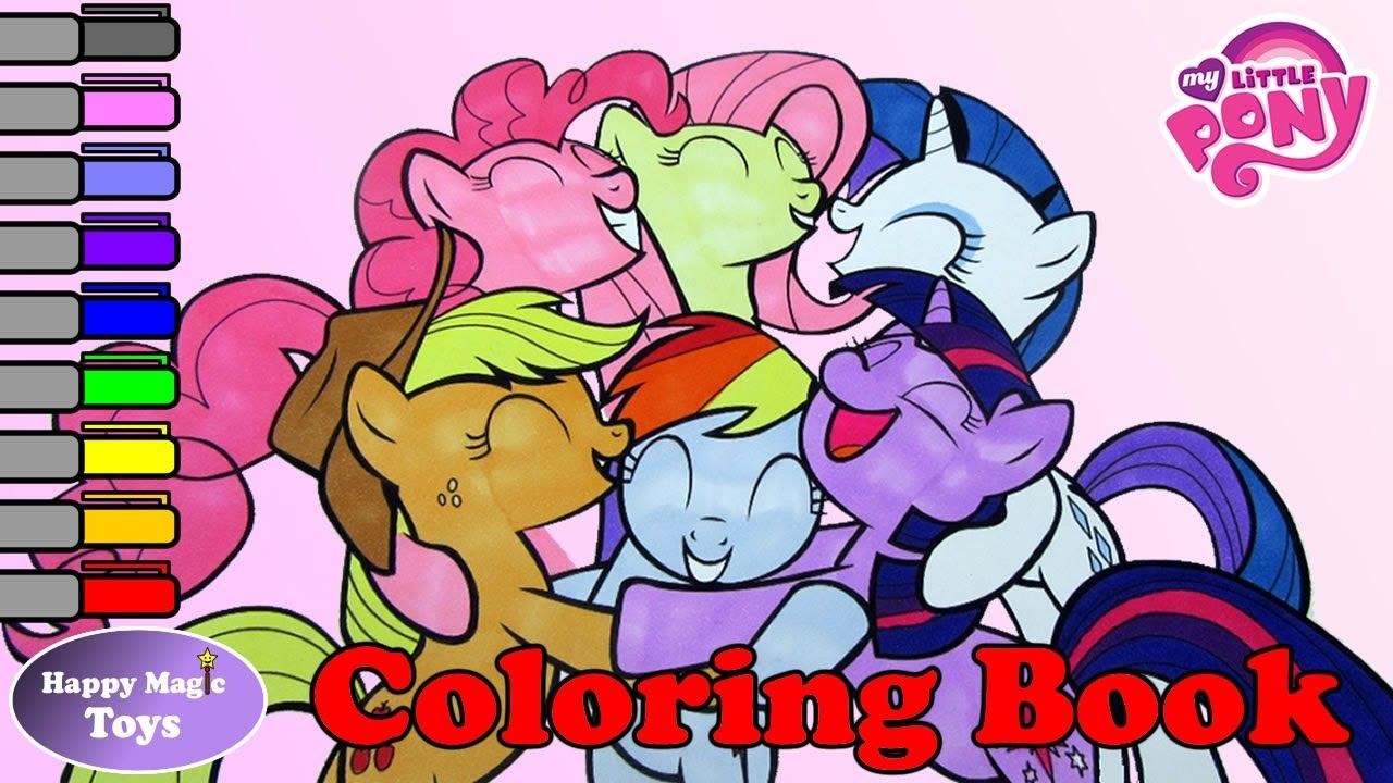 My Little Pony Coloring Book Mane 6 Happy Magic Toys My
