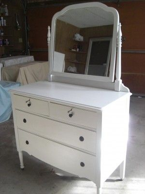 White Antique Dresser With Mirror Studio1404 Antique Dresser